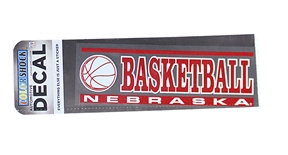 Nebraska Basketball Decal
