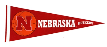 Nebraska Basketball Pennant Flag