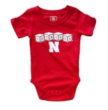 Nebraska Blocks Hopper Onesie