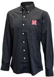 Nebraska Button Down Black Dress Shirt