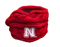 Nebraska Cable Knit Headband