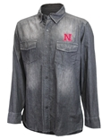 Nebraska Chambray Button Down LS Shirt