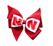 Nebraska Cheer Bow Hair Clip