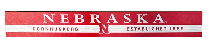Nebraska Cornhuskers Est. 1869 Stripe Table Top Stick