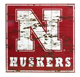 Nebraska Distressed Wood Wall Sign