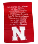 Nebraska Fight Song Banner Garden Flag