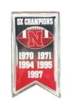 Nebraska Football Champions Lapel Pin