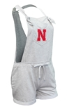 Nebraska Gals Down-Home Overall Shorts