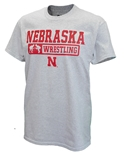 Nebraska Grappling Tee - Gray
