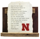 Nebraska Hail Varsity Fight Song Stone Plaque