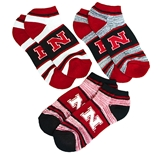 Nebraska Heathered 3-Pack Socks