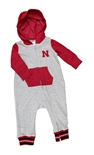 Nebraska Hooded Romper Onesie