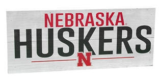 Nebraska Huskers Line Wood Sign