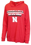 Nebraska Huskers Striped Plus Ladies Hood