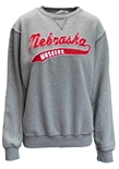 Nebraska Huskers Sweep Sanded Fleece Crew