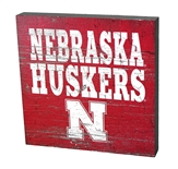Nebraska Huskers Table Top Sign