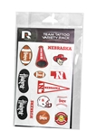 Nebraska Huskers Variety Pack Team Face Tattoo