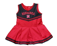 Nebraska Infant Girls Pinky Cheer Dress