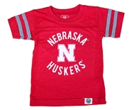 Nebraska Kids Triblend Backfield Tee