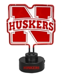 Nebraska N Neon Desk Lamp