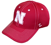 Nebraska N Poly Fitted Cap