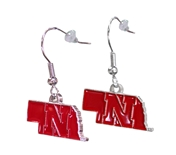 Nebraska N State Dangle Earrings
