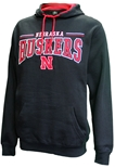 Nebraska Rally Pullover Hood - Black