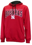 Nebraska Rally Pullover Hood - Red