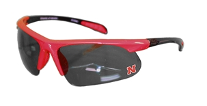 Nebraska Red N Black Shield Sunglasses