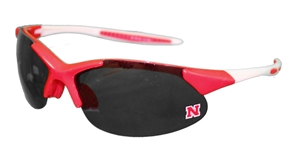 Nebraska Red N White Full Shield Sunglasses