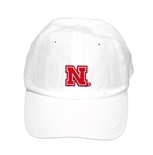 Nebraska Toddler Ball Cap - White