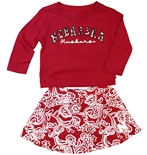 Nebraska Toddler Girls Birdie Skirt Set