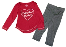 Nebraska Toddler Girls Sparkle Legging Set