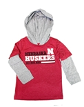 Nebraska Toddler Rail Hooded Tee