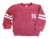 Nebraska Toddlers Twist Stripe Crew