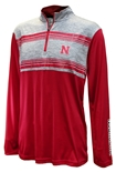 Nebraska Tuxedo Night Stripe Quarter Zip
