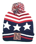 Nebraska USA Flag Cuffed Knit