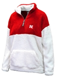 Nebraska Womens Sherpa Quarter Zip Jacket
