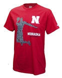 Nebraska Word Game Basketball Tee