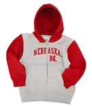 Nebraska Youngsters Hooded Full Zip Jacket