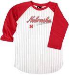 Nebraska Youth Pinstripe Baseball Tee