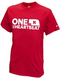 One State N One Heartbeat Give-Back Red Tee