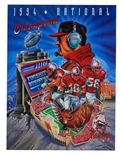 Osborne Autographed 1994 National Champs Poster