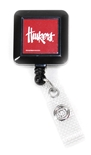 Retractable Huskers Badge Holder