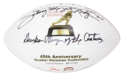 Rodgers Autographed Anniversary Heisman Football