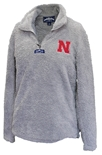 Smokey Huskers Ladies Quarter Zip Sherpa