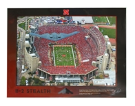 Stealth B-2 Over Memorial Stadium Poster