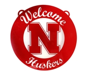 Steel Welcome Huskers Sign