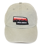 Stone Washed Lincoln Nebraska Patch Dad Hat