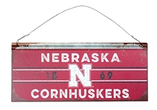 Stripe Band Cornhuskers Tin Sign